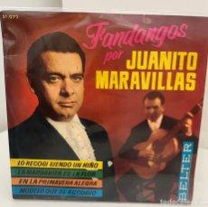 Discos de vinilo: JUANITO MARAVILLAS-LO RECOGI SINDO UN NIÑO/LA MARGARITA ES LA FLOR/+2/EP 1964 BELTER,ESPAÑA. Lote 211411217