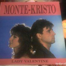 Discos de vinilo: MONTE KRISTO - LADY VALENTINE - MAXI MAX 87 ITALO DISCO. Lote 211412116