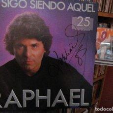 Discos de vinilo: RAPHAEL YO SIGO SIENDO AQUEL ( HOJA DE PRENSA ) UN DIA VOLVERE / ME ESTOY QUEDANDO SOLO ..... Lote 211417667