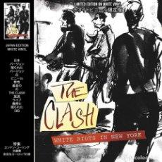 Discos de vinilo: THE CLASH ?– WHITE RIOTS IN NEW YORK? | WHITE VINYL | INCLUYE REVISTA MUSIC LEGENDS | NUEVO. Lote 211420934