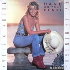 Discos de vinilo: KYLIE MINOGUE - HAND ON YOUR HEART - MAXI-SINGLE GERMANY 1989. Lote 211420935