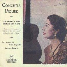 Discos de vinilo: CONCHITA PIQUER – Y SIN EMBARGO TE QUIERO / AMANTE DE ABRIL Y MAYO - SINGLE COLUMBIA SPAIN 1958. Lote 211424470