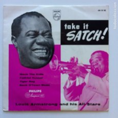 Discos de vinilo: LOUIS ARMSTRONG AND HIS ALL-STARS ?– TAKE IT, SATCH! SWEDEN 1956 PHILIPS. Lote 211425059