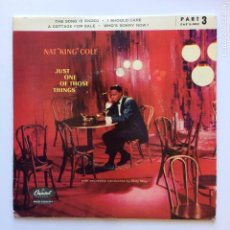 """Discos de vinilo: NAT """"KING"""" COLE* – JUST ONE OF THOSE THINGS, PART 3 DENMARK 1957 CAPITOL RECORDS. Lote 211425419"""
