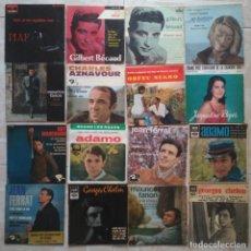 Discos de vinilo: 26 EP'S FRANCESES - BREL, FERRAT, BECAUD, PIAF...... - BUEN ESTADO!. Lote 211427657