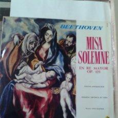 Discos de vinilo: BEETHOVEN. MISA SOLEMNE. Lote 211429842