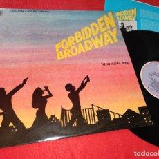 Discos de vinilo: G.ALESSANDRINI+F.BARTON+B.CARMICHAEL+NORA MAE LYNG+C.WEBB OST BSO MUSICAL FORBIDDEN BROADWAY LP 1984. Lote 211429881