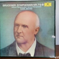 Discos de vinilo: CAJA BOX 3 LP ANTON BRUCKNER, KARL BÖHM, WIENER PHILHARMONIKER – SYMPHONIEN NR. 7 & 8. Lote 211429917