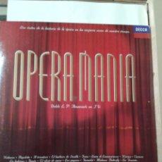Discos de vinilo: OPERAMANIA - DECCA - DOBLE LP. Lote 211430790