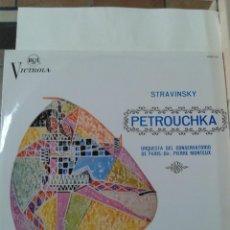Discos de vinilo: STRAVINSKY PETROUCHKA ORQUESTA CONSERVATORIO PARIS 1967. Lote 211431836