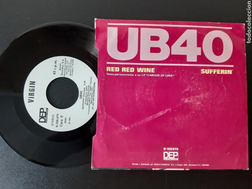 Discos de vinilo: UB 40. RED WINE. SUFFERIN. VIRGIN 1983. ESPAÑA - Foto 2 - 211439160