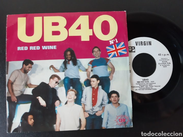 UB 40. RED WINE. SUFFERIN. VIRGIN 1983. ESPAÑA (Música - Discos - Singles Vinilo - Reggae - Ska)