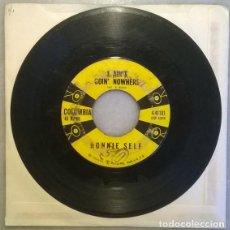 Discos de vinilo: RONNIE SELF. BOP-A-LENA/ I AIN'T GOIN' NOWHERE. COLUMBIA, USA 1958 SINGLE. Lote 211439937