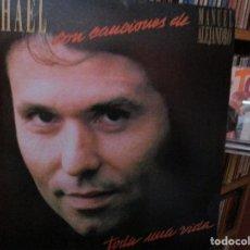 Discos de vinilo: RAPHAEL TODA UNA VIDA ( HOJA DE PRENSA ) HABLAME DEL MAR MARINERO / DUEÑO DE NADA / A QUE NO TE VAS. Lote 211448416