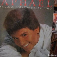Discos de vinilo: RAPHAEL MARAVILLOSO CORAZON // TE VOY A ECHAR AL OLVIDO / ENSEÑAME A OLVIDARTE / OYE / .... Lote 211448559