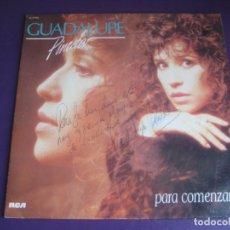 Discos de vinilo: GUADALUPE PINEDA - PARA COMENZAR... LP RCA 1988 - MEXICO POP BALADA - FIRMADO EN PORTADA POR ELLA. Lote 211449531