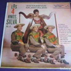 Discos de vinilo: LOS 4 HERMANOS SILVA - ESTAMPAS MUSICALES VOL 6 LP RCA MEXICO - FOLK BOLERO MELODICA LATINA. Lote 211450814