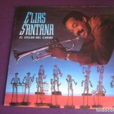 Discos de vinilo: ELÍAS SANTANA - EL CICLON DEL CARIBE LP EDIGAL 1991 - LATIN SALSA PUERTO RICO - SIN USO. Lote 211454957