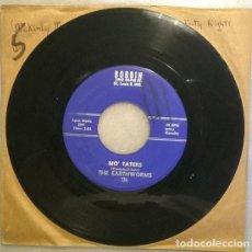 Discos de vinilo: THE EARTHWORMS. FISHTAIL/ MO TATERS. BOBBIN, USA 1962 SINGLE. Lote 211457547
