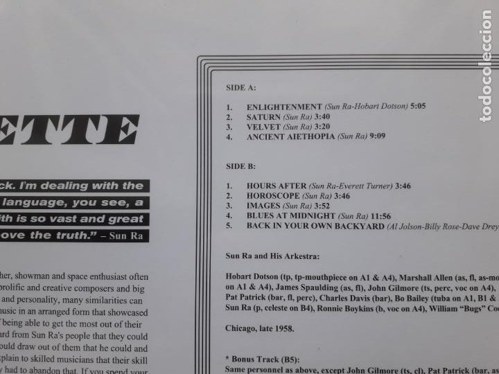 Discos de vinilo: Sun ra and his arkestra - jazz in silhouette - Foto 3 - 211460371