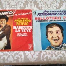 Discos de vinilo: FERNANDO ESTESO 2 SINGLES BELLOTERO POP AZUQUIQUI. Lote 211460387