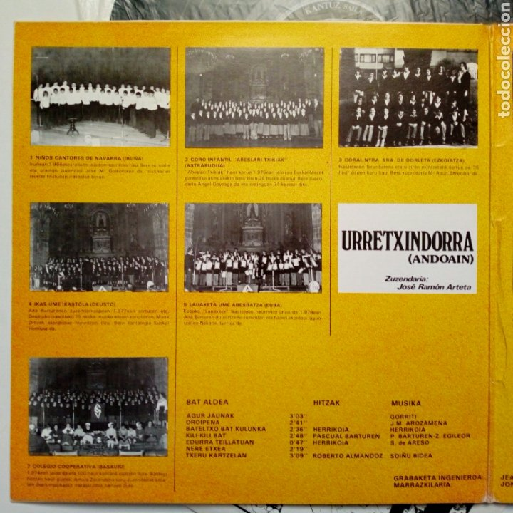 Discos de vinilo: LP: EUZKO ABESLARI TXIKIEN ALKARTASUNA - Kantari (Xoxoa, 1979) - conserva hoja interior con letras - - Foto 4 - 211461414