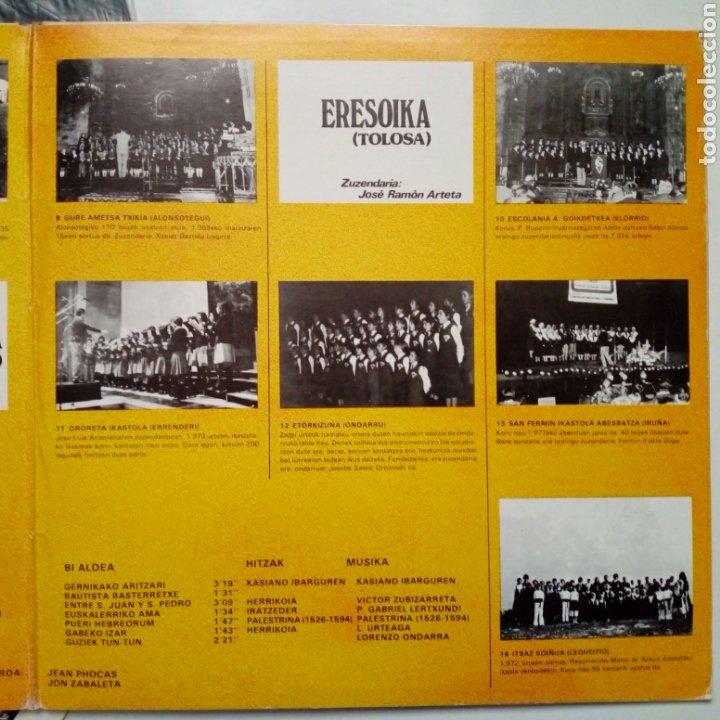 Discos de vinilo: LP: EUZKO ABESLARI TXIKIEN ALKARTASUNA - Kantari (Xoxoa, 1979) - conserva hoja interior con letras - - Foto 5 - 211461414
