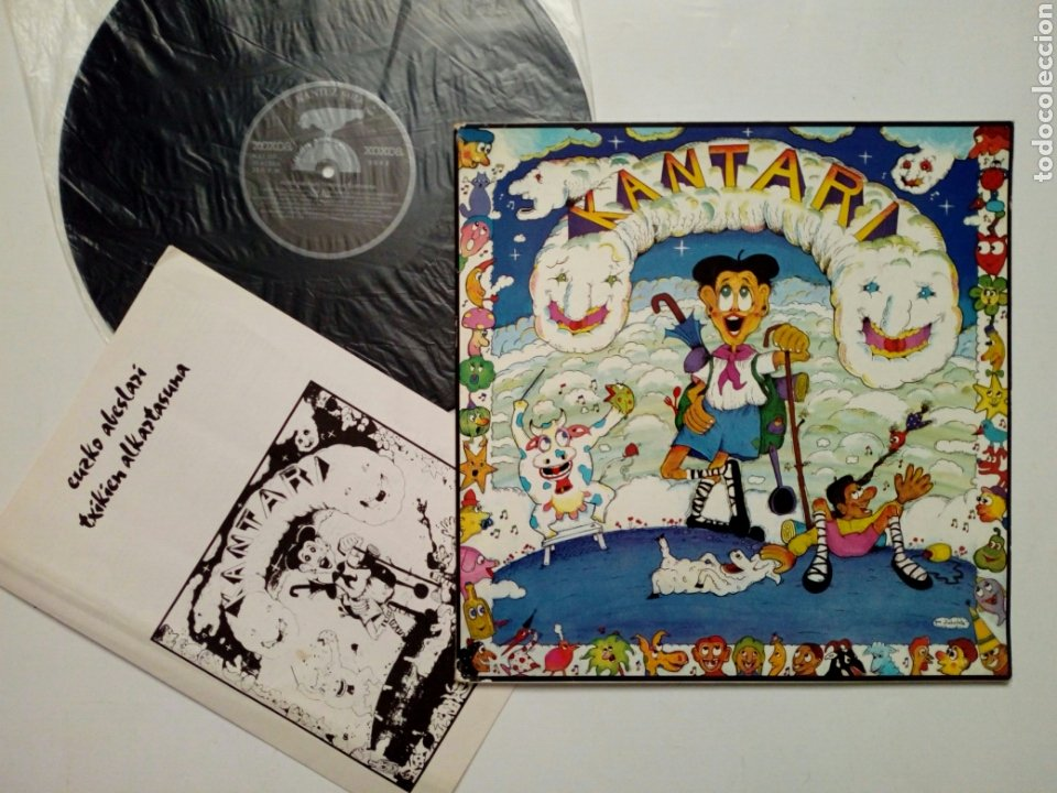 LP: EUZKO ABESLARI TXIKIEN ALKARTASUNA - KANTARI (XOXOA, 1979) - CONSERVA HOJA INTERIOR CON LETRAS - (Música - Discos - LPs Vinilo - Música Infantil)