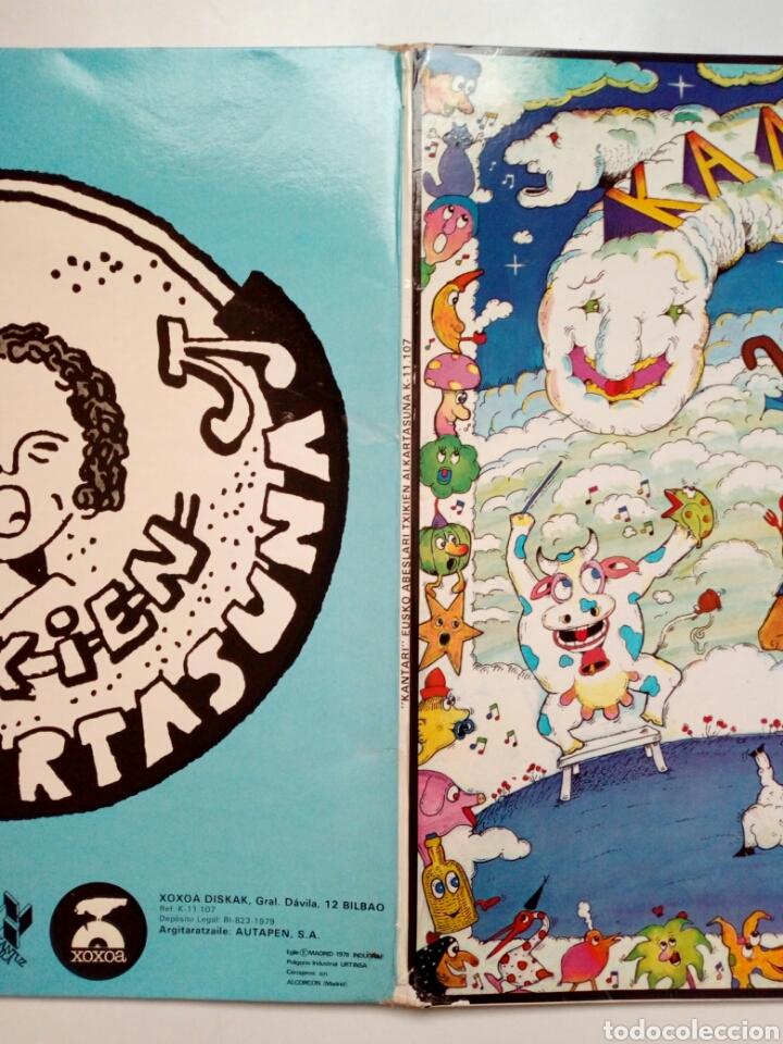 Discos de vinilo: LP: EUZKO ABESLARI TXIKIEN ALKARTASUNA - Kantari (Xoxoa, 1979) - conserva hoja interior con letras - - Foto 8 - 211461414
