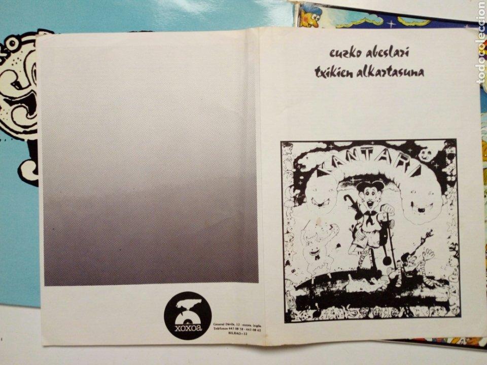 Discos de vinilo: LP: EUZKO ABESLARI TXIKIEN ALKARTASUNA - Kantari (Xoxoa, 1979) - conserva hoja interior con letras - - Foto 9 - 211461414
