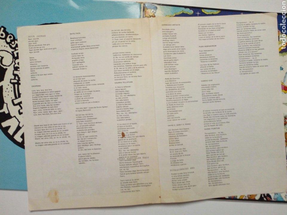 Discos de vinilo: LP: EUZKO ABESLARI TXIKIEN ALKARTASUNA - Kantari (Xoxoa, 1979) - conserva hoja interior con letras - - Foto 10 - 211461414
