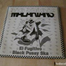 Discos de vinilo: SINGLE MALARIANS EL FUGITIVO BLACK PUSSY SKA GATEFOLD PROMO. Lote 211463667