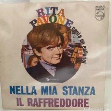 Discos de vinilo: RITA PAVONE /CANTA EN ESPAÑOL/-NELLA MIA STANZA/IL RAFFREDDORE/SINGLE 1968 PHILIPS,ESPAÑA. Lote 211463864