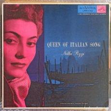 Discos de vinilo: QUEEN OF ITALIAN SONG. NILLA PIZZI. ORCHESTRA DIRECTED BY ARMANDO TROVAJOLI. / EDICION USA. Lote 211464822
