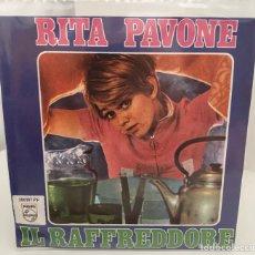 Discos de vinilo: RITA PAVONE-IL RAFFREDDORE/PALLA,PALLINA/SINGLE 1968 PHILIPS,ESPAÑA. Lote 211465147