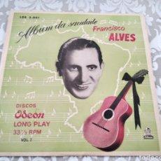 """Discos de vinilo: RARO DISCO VINILO FRANCISCO ALVES ALBUM DA SAUDADE 10"""". Lote 211466374"""