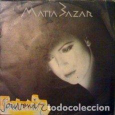 Discos de vinilo: MATIA BAZAR-SOUVENIR + SULLA SCIA SINGLE PROMOCIONAL SPAIN 1985. Lote 211469740