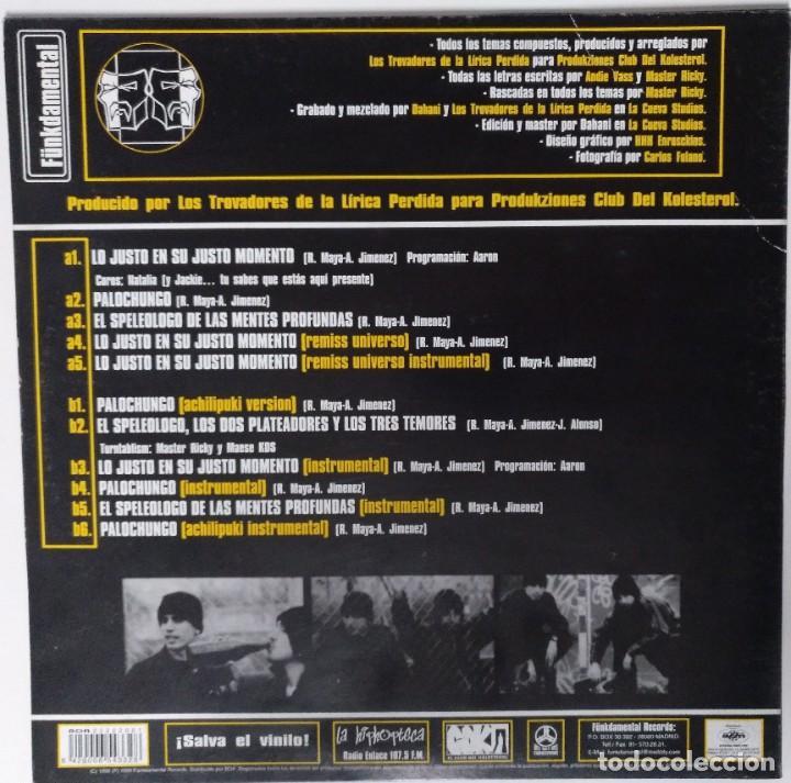 """Discos de vinilo: LOS TROVADORES DE LA LÍRICA PERDIDA [HIP HOP / RAP] [EDICIÓN EXCLUSIVA ORIGINAL EP 12"""" 33RPM] [1999] - Foto 2 - 211472765"""