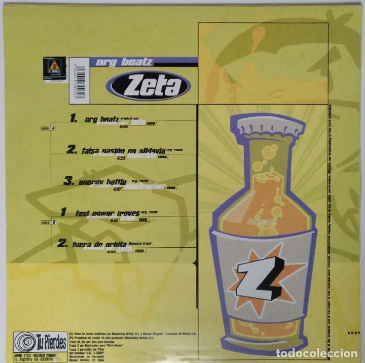 "Discos de vinilo: ZETA - NRG BEATZ [ ELECTRO / HIP HOP / RAP EDICIÓN EXCLUSIVA LIMITADA ] MX 12"" 45RPM [1998] - Foto 2 - 211474827"