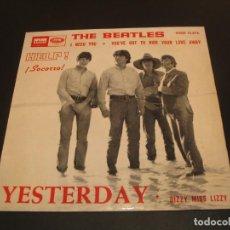 Discos de vinilo: THE BEATLES EP 45 RPM YESTERDAY ODEON ESPAÑA 1965. Lote 211476277