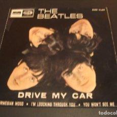 Discos de vinilo: THE BEATLES EP 45 RPM DRIVE MY CAR ODEON ESPAÑA 1966. Lote 211477067
