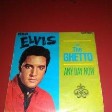 Discos de vinilo: ELVIS PRESLEY UN THE GUETTO. SINGLE.. Lote 211480257