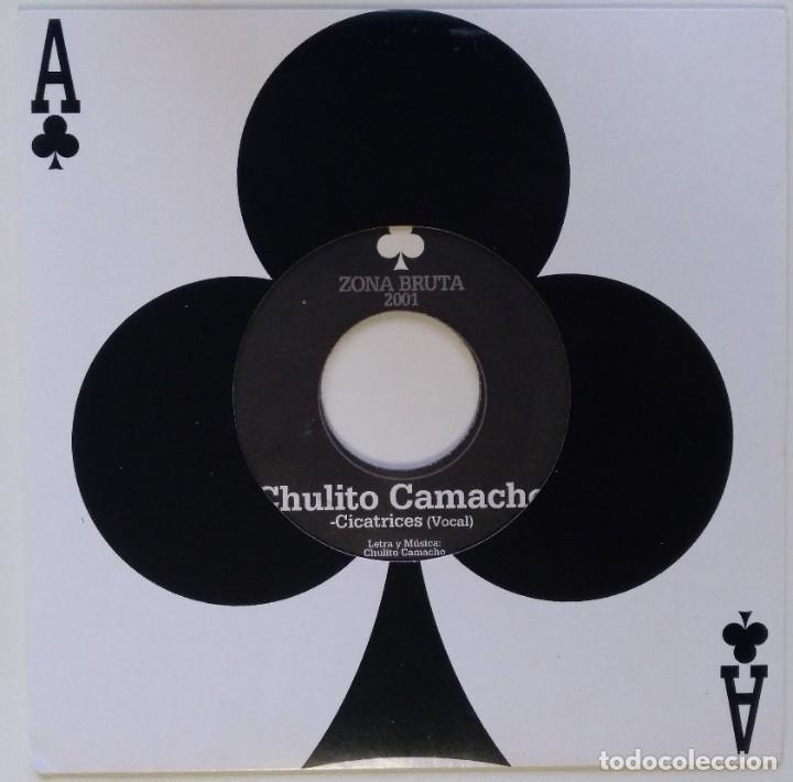 """CHULITO CAMACHO - CICATRICES (ZONA BRUTA) [RAGGA HIP HOP / REGGAE ORIGINAL] 7"""" 45RPM [2001] (Música - Discos - Singles Vinilo - Rap / Hip Hop)"""