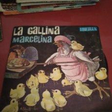 Discos de vinilo: LA GALLINITA MARCELINA.. CUADRO ARTÍSTICO DE RADIO MADRID.IBERIA .SINGLE.. Lote 211482036