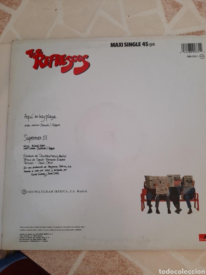 Discos de vinilo: The Refrescos . Aquí no hay playa. Maxi single. - Foto 3 - 211484071