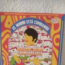 Discos de vinilo: ROLANDO BRUNOYEL GRUPO AREVALO–EL MUNDO ESTA CUMBIANDO . LP VINILO NUEVO. Lote 211489342