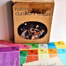 Discos de vinilo: FESTIVAL DE MUSIQUE CLASSIQUE LEGERE FRANCIA 1960 APROX ALBUM 11 VINILOS Y LIBRILLOS. Lote 211491905