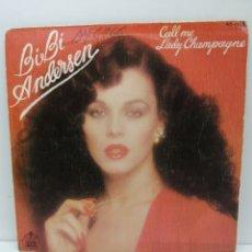Disques de vinyle: BIBI ANDERSEN, CALL ME (HISPAVOX 1980) SINGLE. Lote 211492607