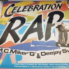 "Discos de vinilo: M.C. MIKER ""G"" AND DEEJAY SVEN* - CELEBRATION RAP (12"") 1986. BLANCO Y NEGRO MX 165.. Lote 211492916"