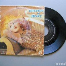 Discos de vinilo: CYNDI LAUPER – CHANGE OF HEART SINGLE 1986 VG++/VG+. Lote 211493221